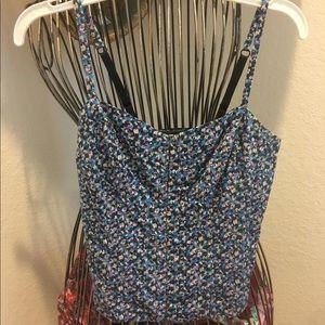 Floral corset crop top